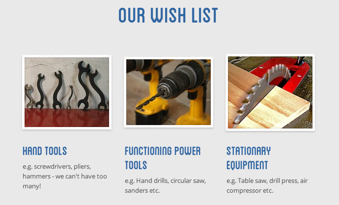 Our tool wish list